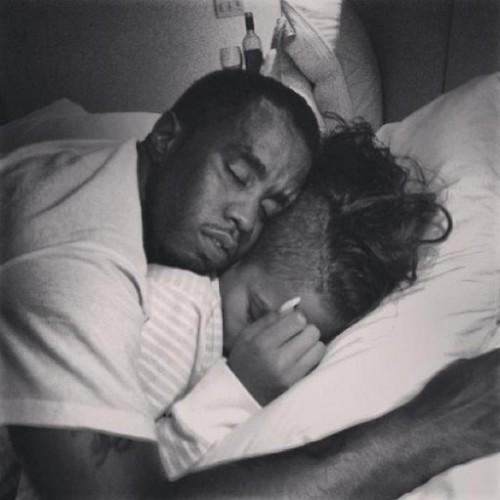 lover sleeping image
